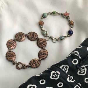 Copper & Stone Bracelets